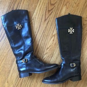 Tory Burch Adeline Riding Boots in dark brown